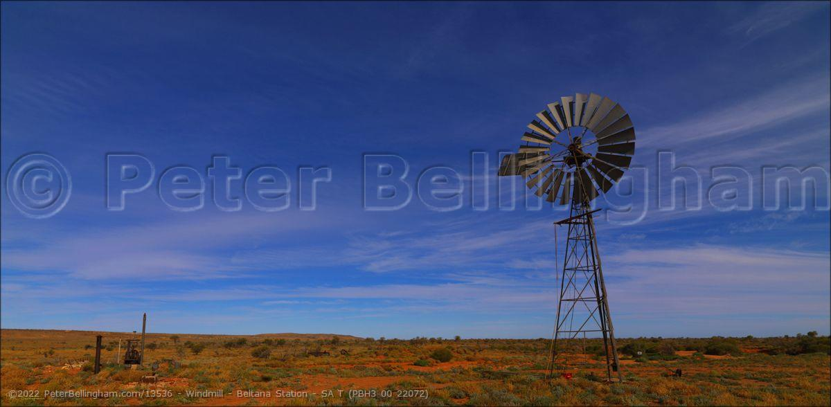 Peter Bellingham Photography Windmill - Beltana Station - SA T (PBH3 00 22072)