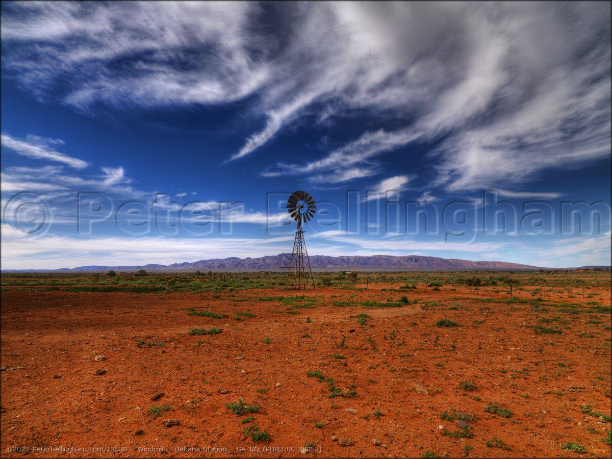 Peter Bellingham Photography Windmill - Beltana Station - SA SQ (PBH3 00 22053)
