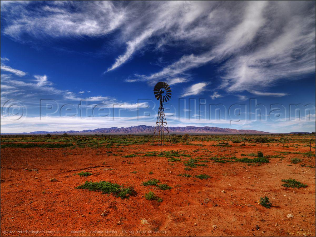 Peter Bellingham Photography Windmill - Beltana Station - SA SQ (PBH3 00 22052)