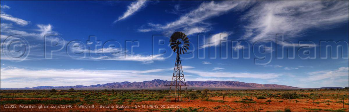 Peter Bellingham Photography Windmill - Beltana Station - SA H (PBH3 00 22052)