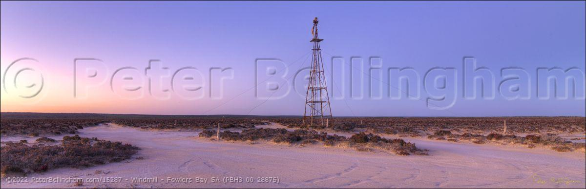 Peter Bellingham Photography Windmill - Fowlers Bay SA (PBH3 00 28875)