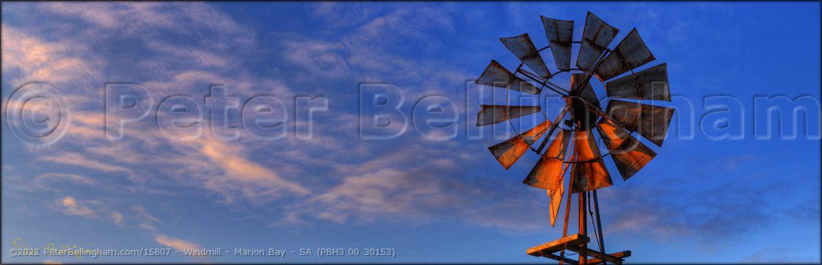 Peter Bellingham Photography Windmill - Marion Bay - SA (PBH3 00 30153)