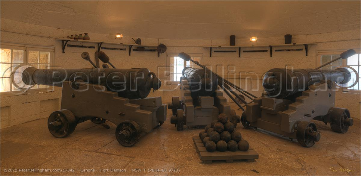 Peter Bellingham Photography Canons - Fort Denison - NSW T (PBH4 00 9723)