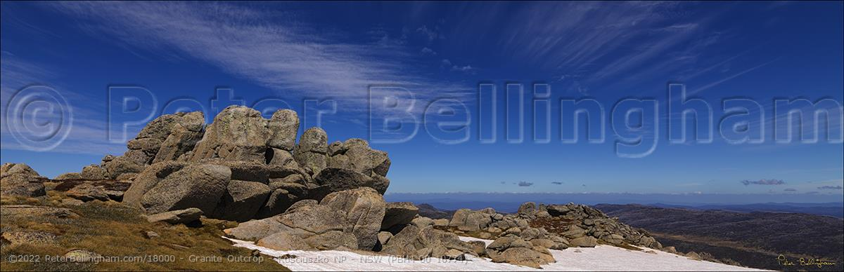 Peter Bellingham Photography Granite Outcrop - Kosciuszko NP - NSW (PBH4 00 10774)