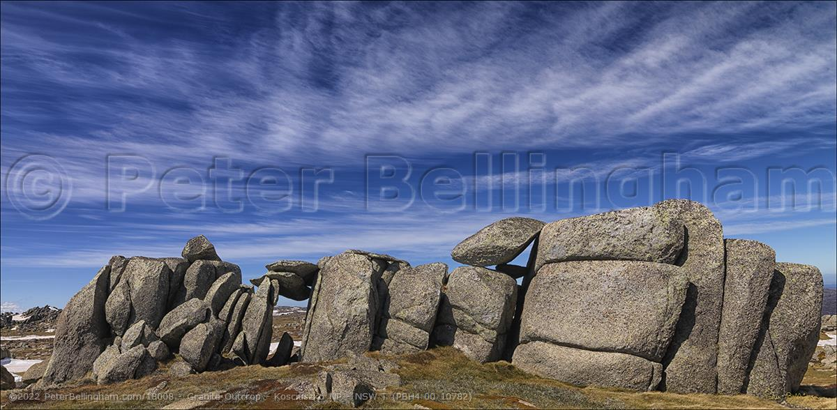 Peter Bellingham Photography Granite Outcrop - Kosciuszko NP - NSW T (PBH4 00 10782)