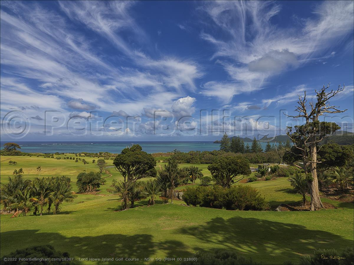 Peter Bellingham Photography Lord Howe Island Golf Course - NSW SQ (PBH4 00 11800)