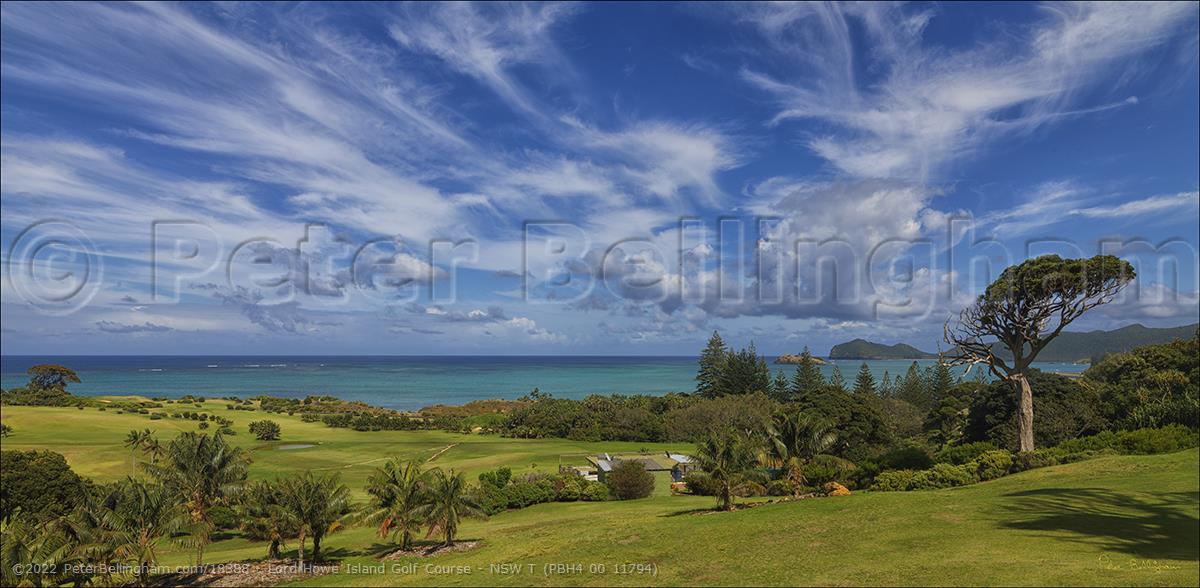 Peter Bellingham Photography Lord Howe Island Golf Course - NSW T (PBH4 00 11794)