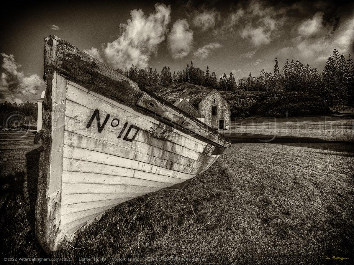 Peter Bellingham Photography Lighter No 10 - Norfolk Island - NSW SQ BW (PBH4 00 12077)