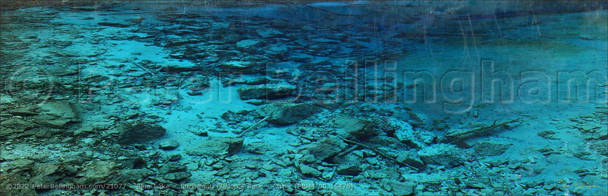 Peter Bellingham Photography Blue Lake - Jiuzhaigou National Park - China (PBH4 00 15476)