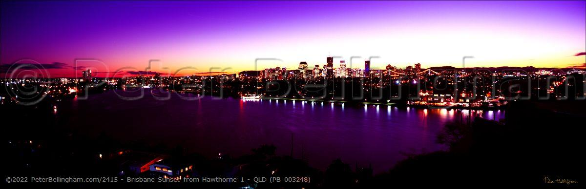 Peter Bellingham Photography Brisbane Sunset from Hawthorne 1 - QLD (PB 003248)