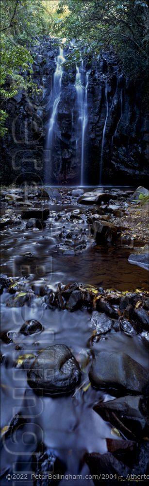 Peter Bellingham Photography Atherton Waterfall Vertical - QLD (PB00 2345)