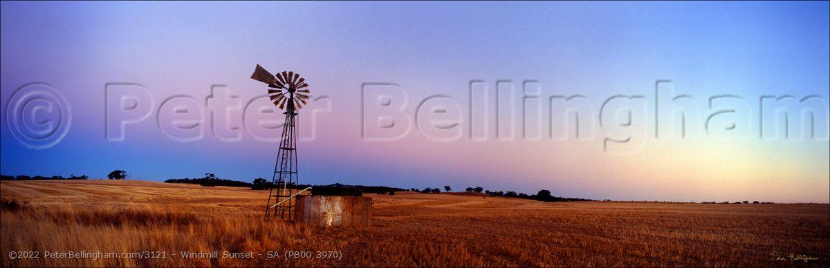 Peter Bellingham Photography Windmill Sunset - SA (PB00 3970)