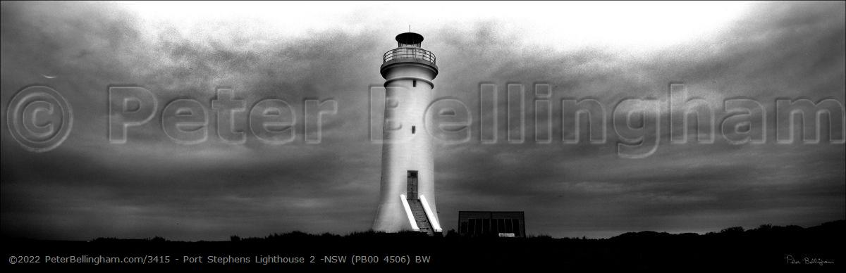 Peter Bellingham Photography Port Stephens Lighthouse 2 -NSW (PB00 4506) BW