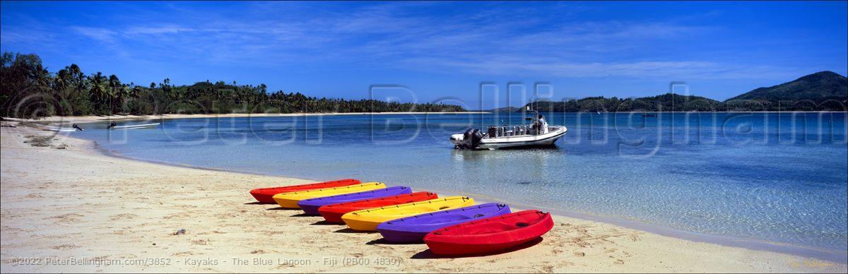 Peter Bellingham Photography Kayaks - The Blue Lagoon - Fiji (PB00 4839)