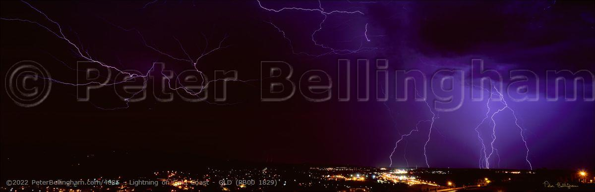 Peter Bellingham Photography Lightning on Gold Coast - QLD (PB00 1829)