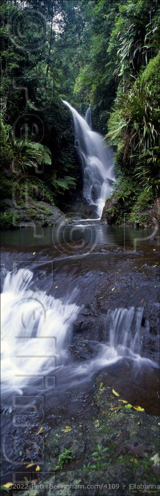 Peter Bellingham Photography Ellabanna Falls Vertical - QLD (PB00 1954)