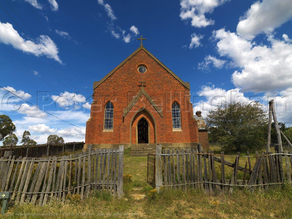Peter Bellingham Photography Church at Hill End - NSW SQ (PBH3 00 0394)